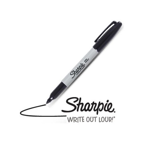 Sharpie noir pointe fine