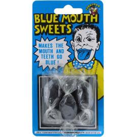 Blister 3 bonbons bouche bleu