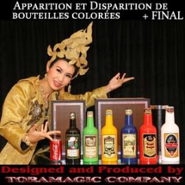 Apparition et Disparition de bouteilles colorées