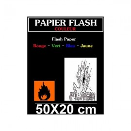 Feuille de Papier Flash Couleur 25 x 20 cm