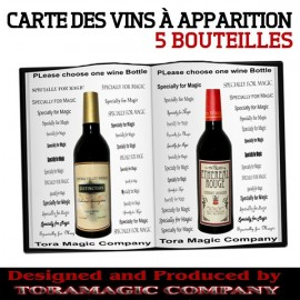 Carte de vins à apparition de Tora Magic