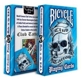 Bicycle Club Tattoo Bleu