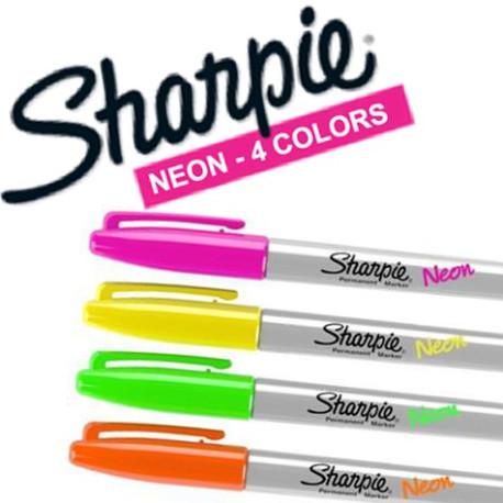 Sharpie Fluo Néon 4 couleurs