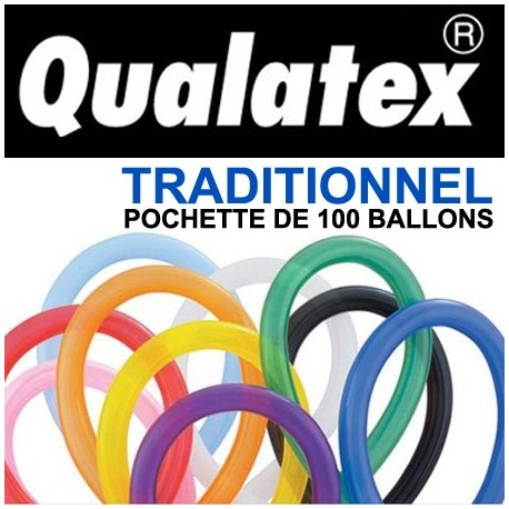 Ballons Qualatex 260Q Traditionnel (x100)