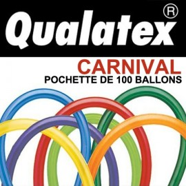 Ballons Qualatex 260Q Carnival (x100)