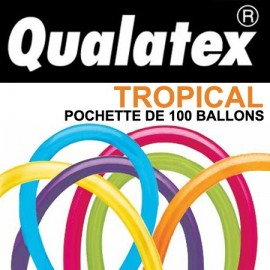 Ballons Qualatex 260Q Tropical (x100)