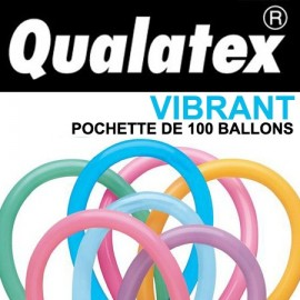 Ballons Qualatex 260Q Vibrant (x100)
