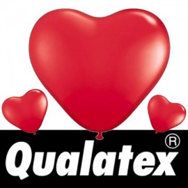 "Ballons Qualatex Coeurs Rouges 6"" (x100)"