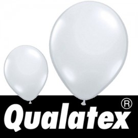 "Ballons Qualatex Ronds Blanc Transparent 11"" (x 25)"