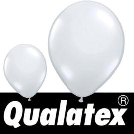"Ballons Qualatex Ronds Blanc Transparent 11"" (x 25)"
