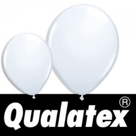 "Ballons Qualatex Ronds Blancs Opaques 11"" (x 25)"