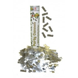 Canon à confettis Metal Argent
