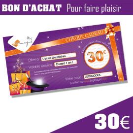 Chèque cadeau de 30€