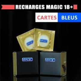 Recharges Magic 18+ (cartes bleues)