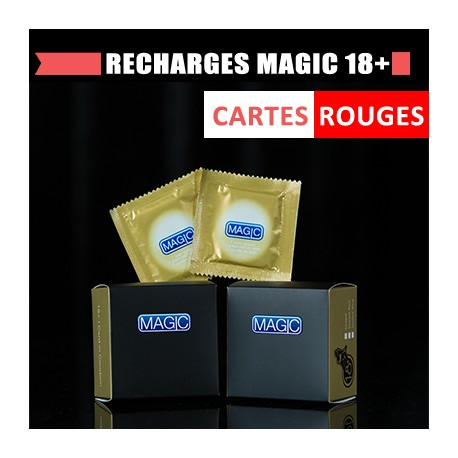 Recharges Magic 18+ (cartes rouges)