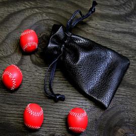 Set de 4 baseball rouges