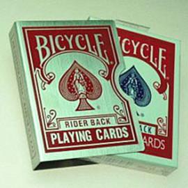 Etui de cartes Alu Bicycle Rouge