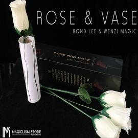 Rose & Vase (Blanc)