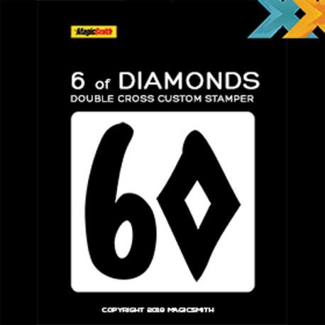 Tampon Double Cross - 6 de Carreau