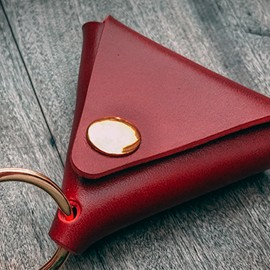Coin Pouch Rouge (Demi dollar)