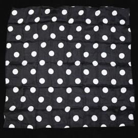 Foulard à Production Pois Blancs Fond Noir