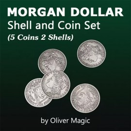 Morgan Dollar Shell and Coin Set Deluxe
