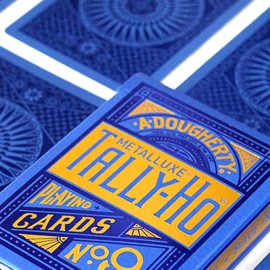 Tally Ho Blue (Circle) MetalLuxe Deck